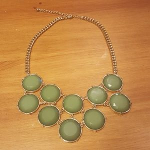 Jewelry - Green and Gold Statement Necklace